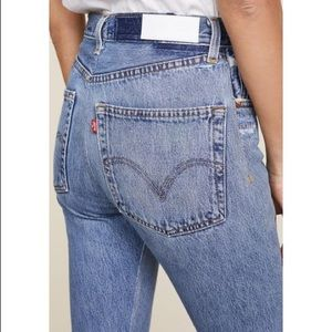 Re/done high rise Levi's jeans